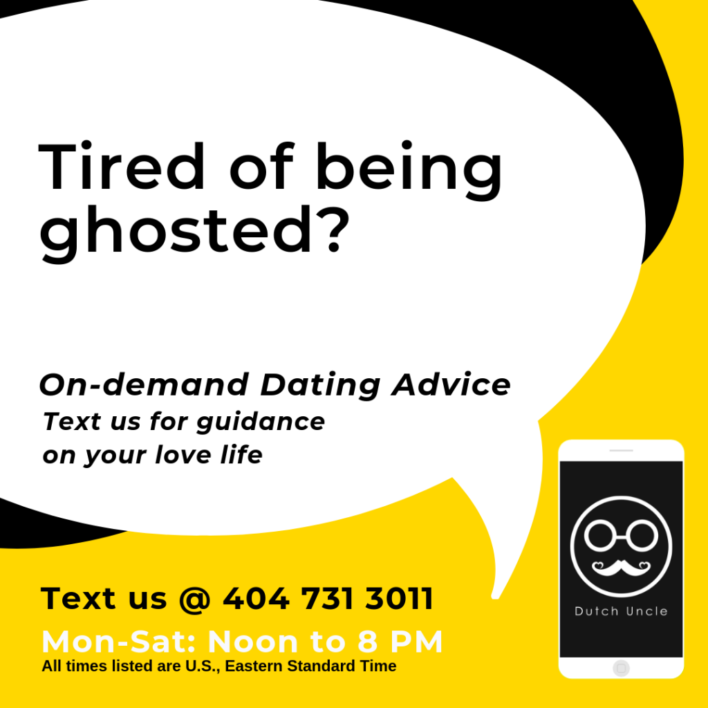 Dating advice text service